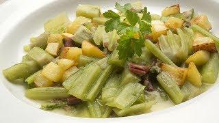 Receta de Borraja con patatas y jamón de Karlos Arguiñano
