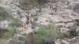 RAW VIDEO: Flash flood rescue at swimming hole near Payson, courtesy of Mindy Russell