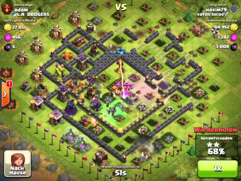 CLASH OF CLANS GOWIWI MAX BASE (WITHOUT WALLS) 100% destroy