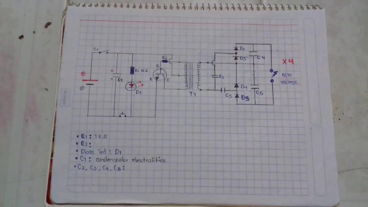 Taser Casero- Diagrama Del Circuito