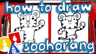 How To Draw Soohorang the Pyeongchang Winter Olympic