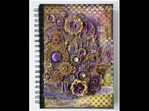Mixed Media Art Journal Cover Tutorial