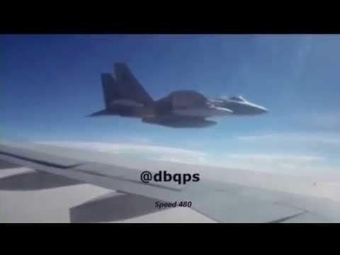 طيار سعودي يعترض طائرة إيرانية Saudi Pilot is intercepting an Iranian aircraft