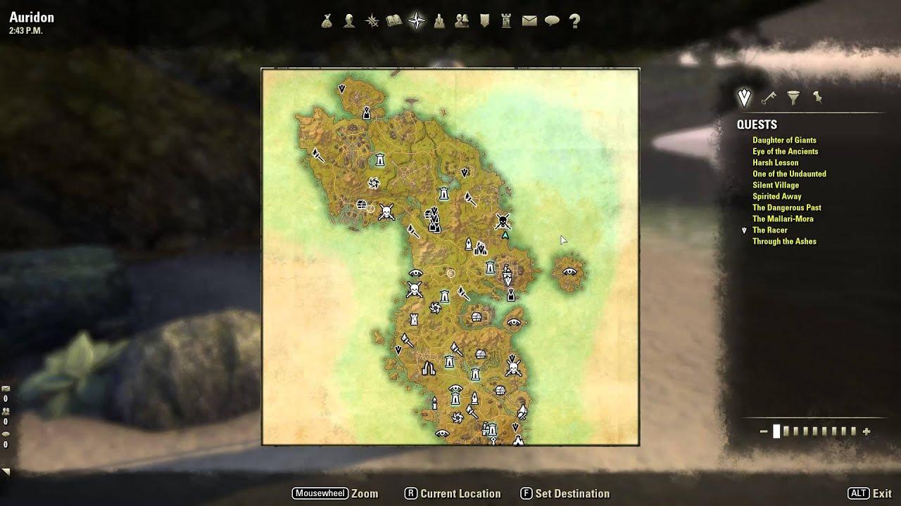 Eso Auridon Treasure Map