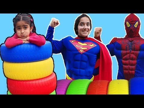 Esma and cute heroes fun video