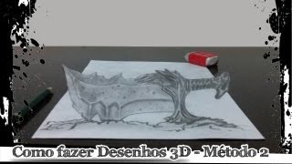 Como fazer desenhos 3D - Método 2 (Blade of Chaos)