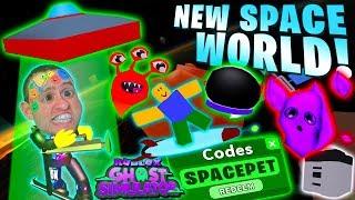 NUOVO SPACE WORLD 🌙 MOON EVENTO ! codice m! cassa! Animali domestici! BOARDS & MORE 👻 Ghost Simulator Aggiornamento 5 Roblox