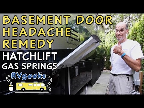 RV Basement Door Lift Gas Springs Prevent Headaches!