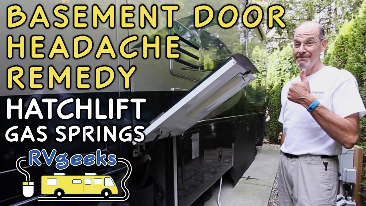 Rv Basement Door Lift Gas Springs Prevent Headaches Youtube