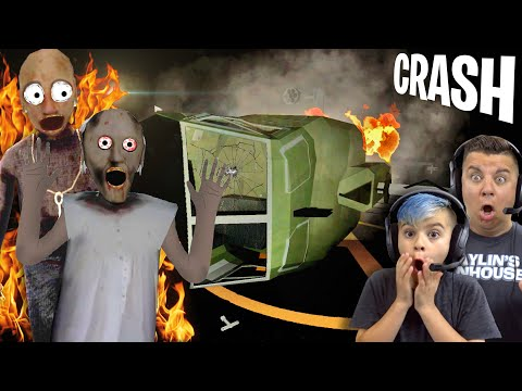 WE CRASHED GRANDPA'S HELICOPTER And CAUGHT HIM ON FIRE! New Granny 2 Glitch!