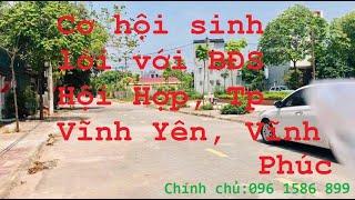 Chính chủ bán thửa đất 100m2 sổ đỏ thổ cư gần QL2 - Hùng Vương phường Hội Hợp, Vĩnh Yên, Vĩnh Phúc