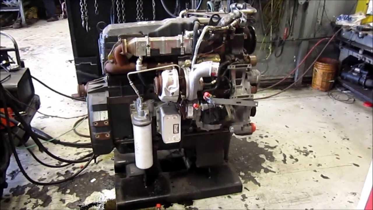 hight resolution of 2008 international maxxforce 9 diesel engine running
