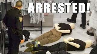 40 Morphsuit mannequins ARRESTED by the NYPD