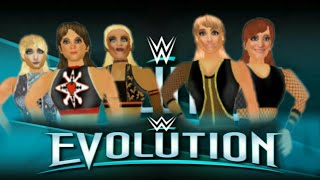 WR3D EVOLUTION Trish and Lita VS. Alicia and Mickie james w/ Alexa Bliss