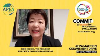 Keiko Nishino at #Eval4Action Commitment Drive
