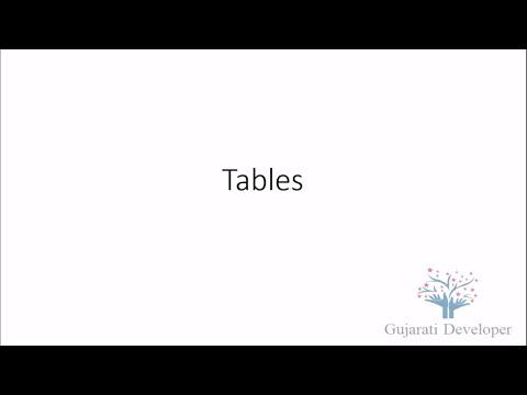 7. Tables (In Gujarati Language)
