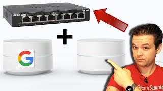 Google WiFi  - Get More Ethernet Ports with a Netgear Unmanaged Network Switch