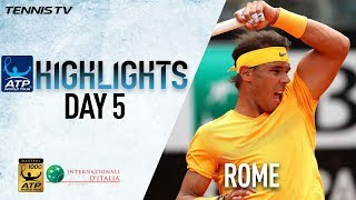 Watch Highlights: Rafa Enters Beast Mode On Wednesday Rome 2018