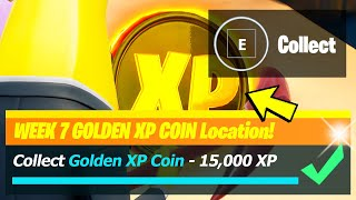 Golden XP Coin LOCATION & All Week 7 XP Coins - Fortnite Season 5 Week 7
