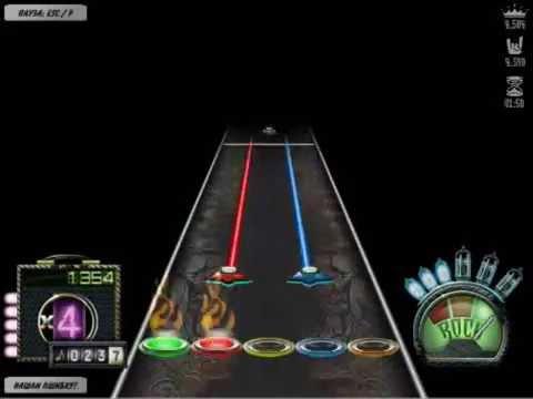 Flash Guitar Hero: Skillet - Monster(Rus). Симулятор игры на гитаре. Стань рок звездой.