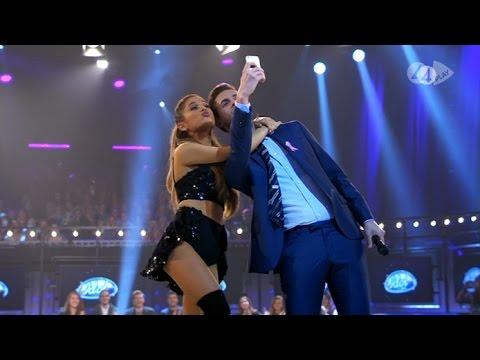 Swedish Idol Host Takes Selfie With Ariana Grande - Idol Sverige TV4