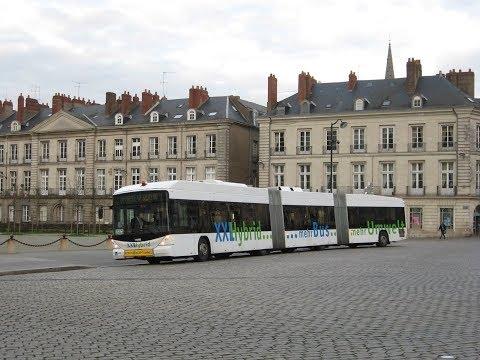 Bus Hess bi-articulé à Nantes