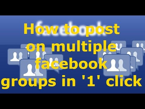 How to post on multiple facebook groups by just '1' click