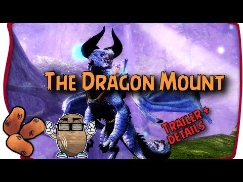 "The Eighth Mount Revealed - And It's A Dragon! The ""Skyscale"" - Guild Wars 2 thumbnail"