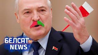 Лукашэнка пафарбаваў... вусы! NEXTA на Белсаце   Лукашенко покрасил усы