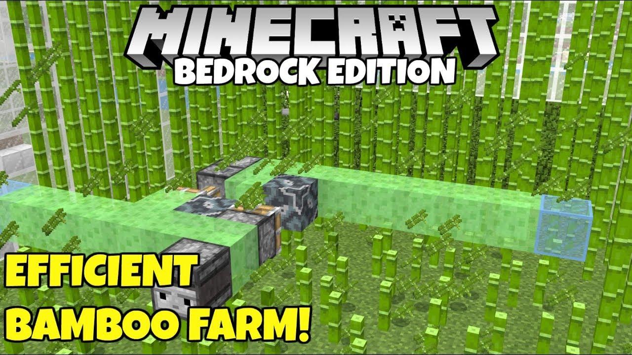 Minecraft Bedrock: Simple Expandable Bamboo Farm Tutorial! No Bonemeal!  MCPE Xbox PC