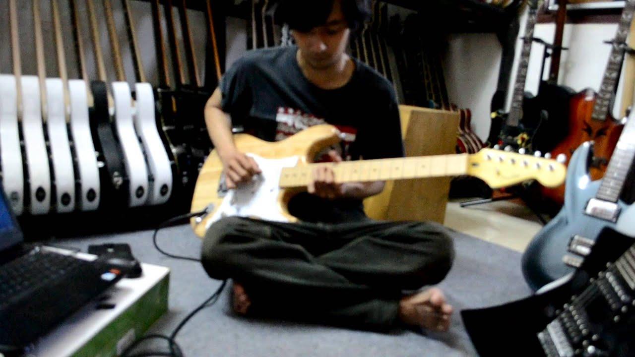 gitar listrik fender stratocaster naturah murah meriah by selamat
