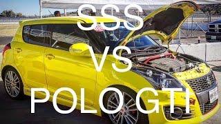 Suzuki Swift Sport vs VW Polo GTI | Track Battle | Track Day | + Flying Lap