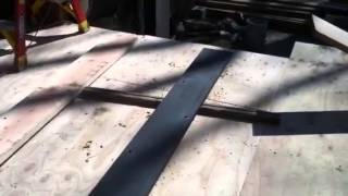Setting up a flitch plate