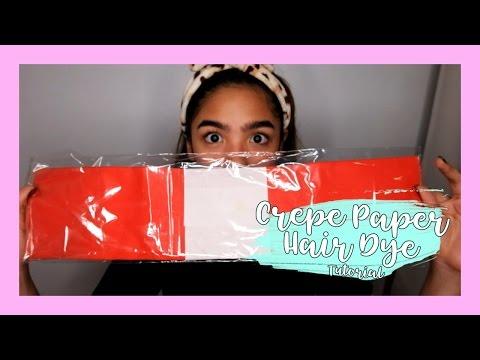 Crepe Paper Hair Dye Tutorial | Andrea B.