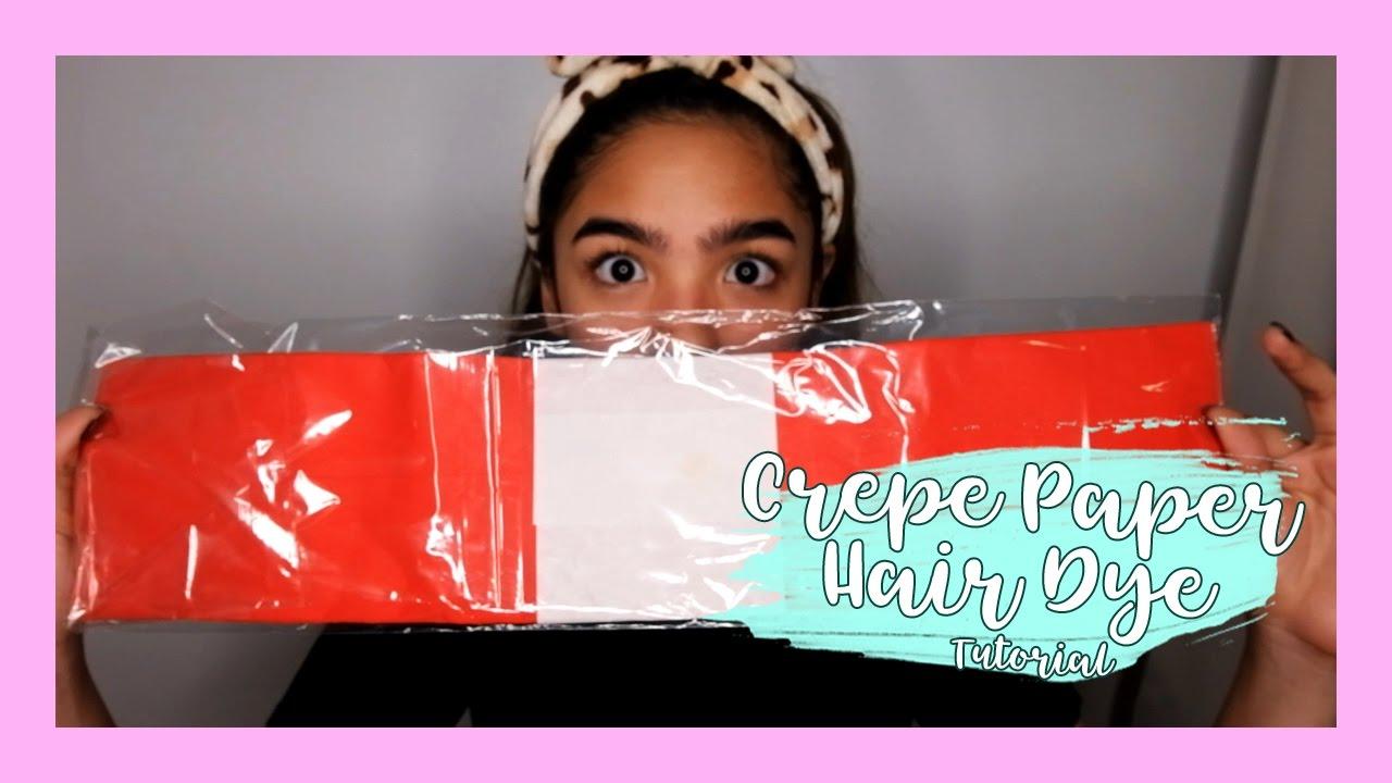 Crepe Paper Hair Dye Tutorial Andrea B Youtube