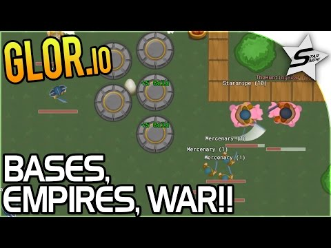 Glor.io - EPIC Base & WAR with the STRONGEST EMPIRE! - FREE Base Building IO Game - Glor.io Gameplay