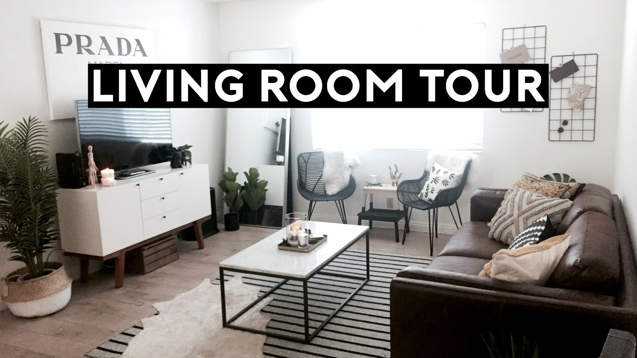 LIVING ROOM TOUR | Los Angeles Apartment Tour 2017 - YouTube