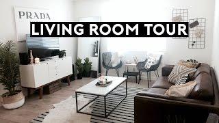 LIVING ROOM TOUR   Los Angeles Apartment Tour 2017