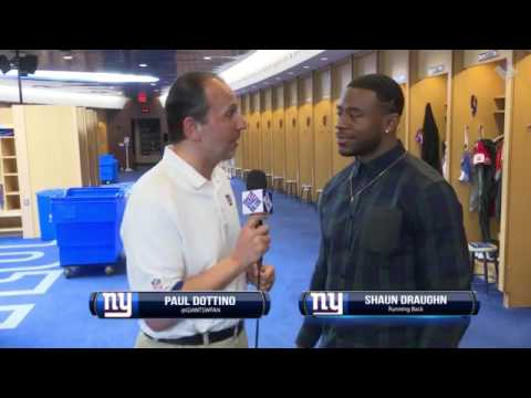 Giants Insider: RB Shaun Draughn, on joining Big Blue