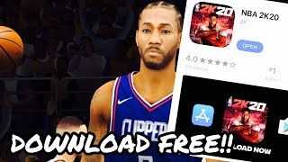How To Get NBA 2K20 IOS/ANDROID For Free!! Download NBA 2K20 Mobile Free!!