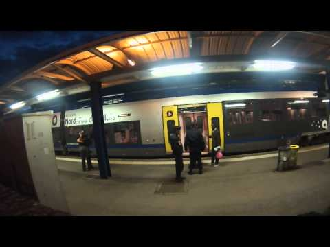 Racist ID checks at Calais Train Station  / Controles d'identite racistes a la gare de Calais