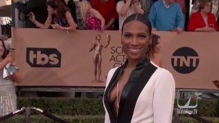 Vicky Jeudy on the red carpet for 2016 SAG Awards