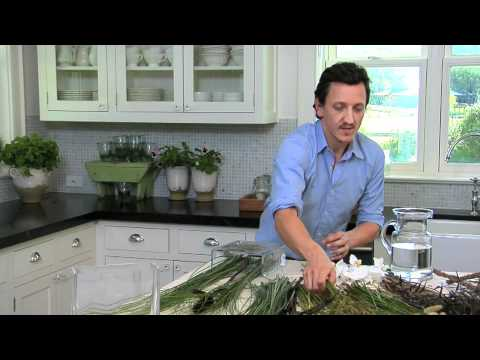 How To Make Simple Grass And Orchid Arrangements | Pottery Barn