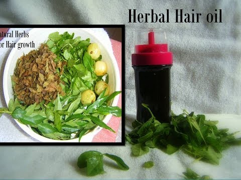 Homemade herbal hair oil - All-in-one hair oil for all hair  problems