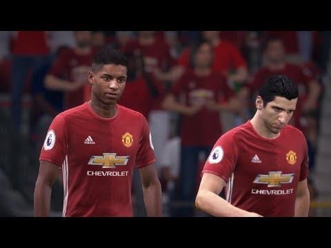 Manchester United vs Basel Champions League 12/09/2017 Gameplay
