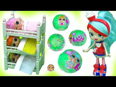 Thumbnail: Bunk Bed Babies - LOL Surprise Baby Lil Sisters Color Change + Pee with Shopkins Shoppies Doll