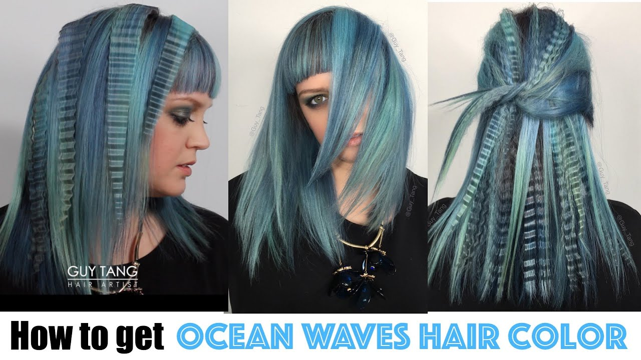 How To Get Ocean Waves Hair Color Youtube