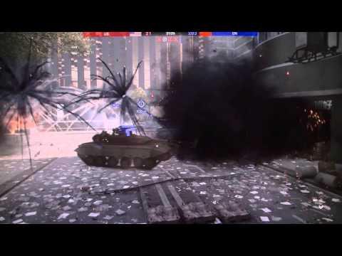 BF4 Beta Spectator Mode    Tank Battles in downtown SHANGHAI