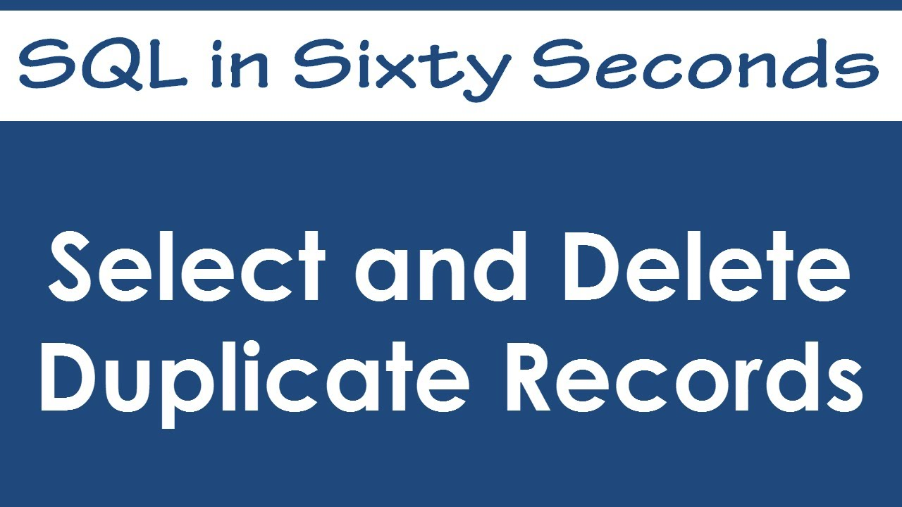 SQL SERVER - Count Duplicate Records - Rows - SQL Authority with