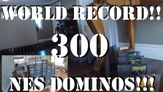 WORLD RECORD NES DOMINO RALLY!! 300 GAMES!! EPIC!!